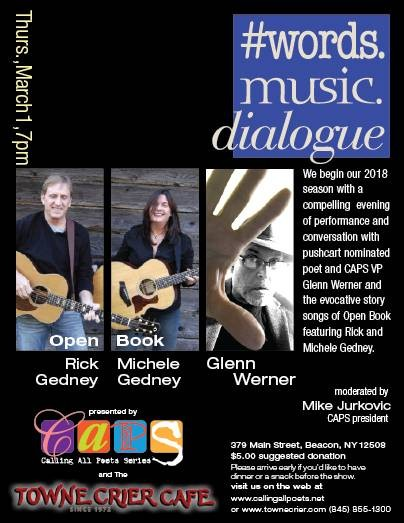 Spinning Poetic Messages 2/21 & #wordsmusicdialogue 3/1